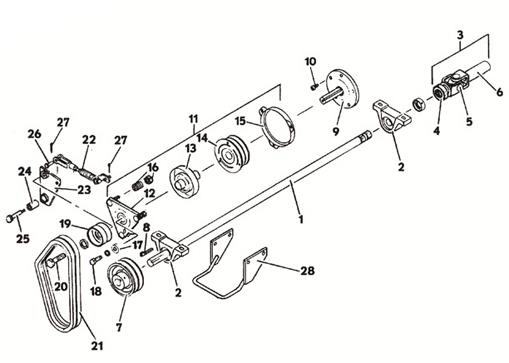 PTO Clutch Assembly- Model 1822D 1988 Grasshopper Mower Parts