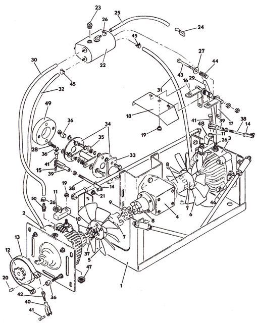 Drive Assembly Model 1822k 1988 Grasshopper Mower Parts Diagrams