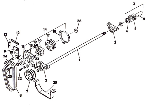PTO Clutch Assembly, Model 1822K 1988- Grasshopper Mower