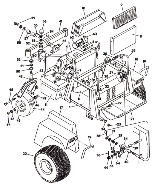 tractor assembly  model 1822k 1988