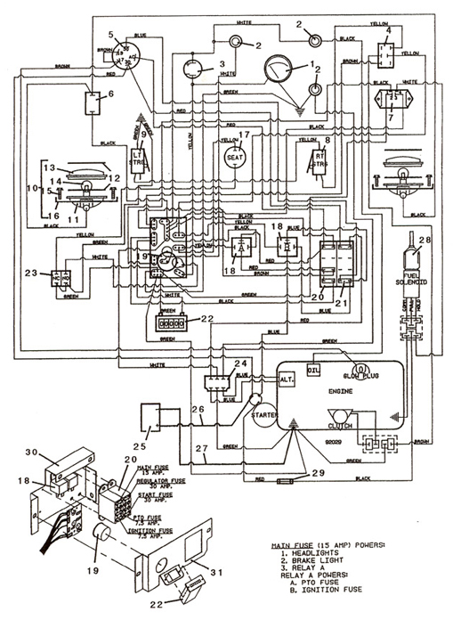 Mower deck will not engage when the PTO switch is turned on besides 721D 93 wiring moreover View moreover Kawasaki Fc420vfs15 Stroke Engine Parts C 30157 30211 30453 further E 450 Engine Diagram. on john deere 620 wiring diagram