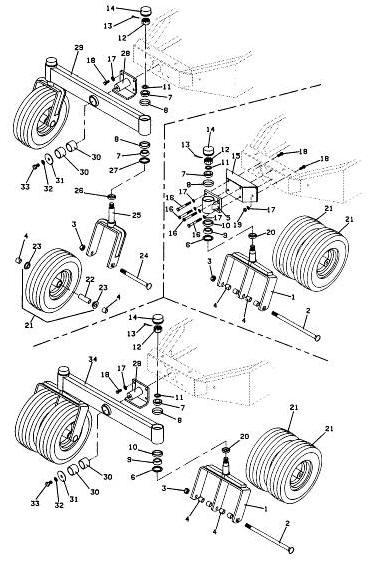 725 1990 grasshopper mower diagram  u0026 parts list