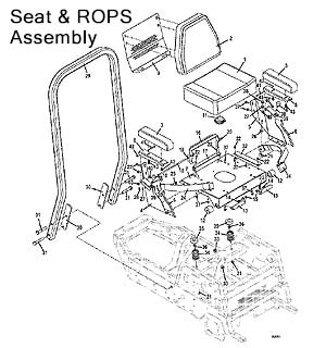 Seat and ROPS Assembly