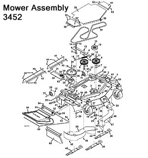 3452 Mower Assembly