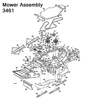 3461 Mower Assembly