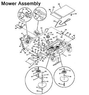 9044 1993 as well 9652 2001 as well 9048 9052 9061 1995 besides 430d 2009 as well 9552 1999. on grasshopper mower deck discharge