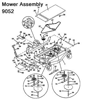 9052 Mower Assembly