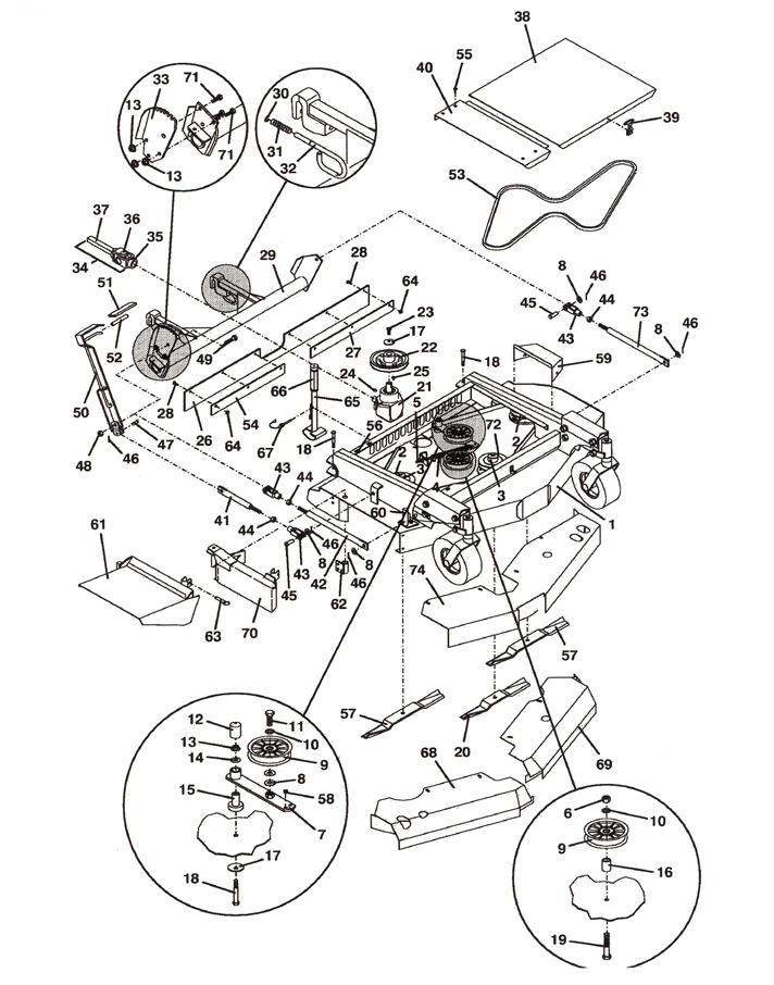 Land Pride Wiring Diagram also T 300 Bobcat Wiring Diagram besides Kubota 72 Mower Deck Parts moreover Jd 300 Tractor Engine Diagram further John Deere 2150 Wiring Diagram. on 790 midfront pto kit