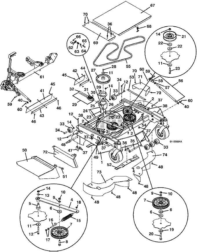 Grasshopper Parts Diagram 9852 Deck Mower Assembly 2001