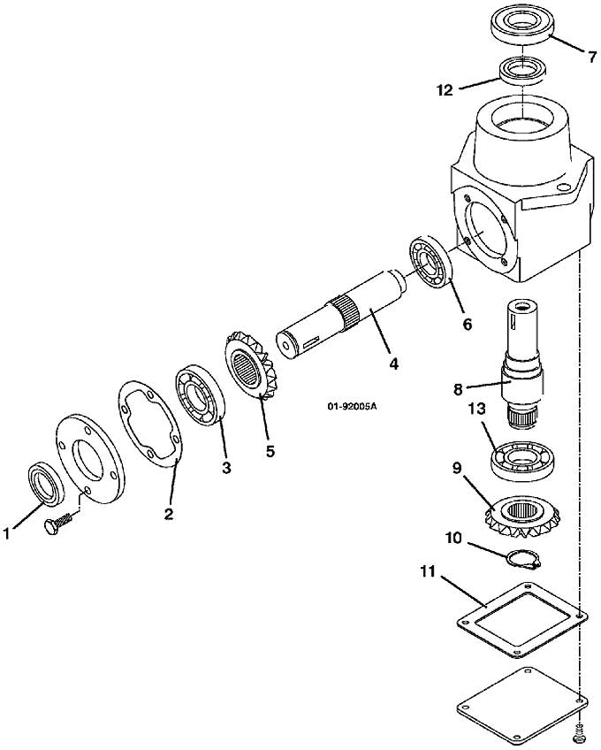 grasshopper parts diagram 9852 right angle gearbox 2002