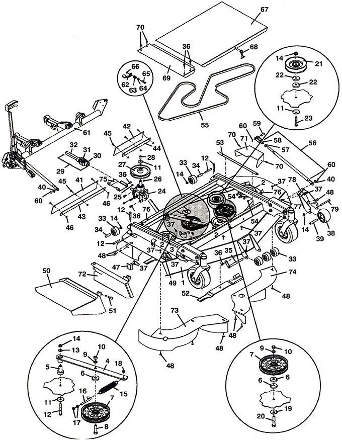 9861 2001 mower assembly on john deere 445 engine diagram
