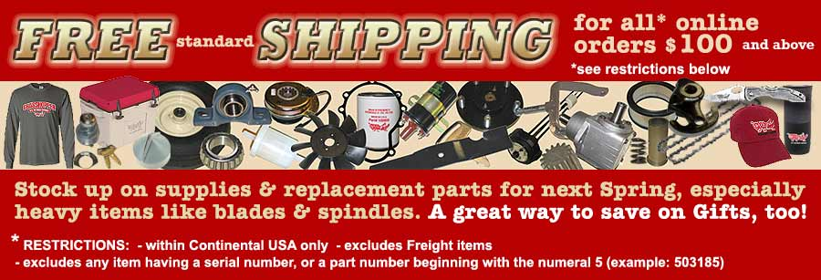 FREE SHIPPING! with $100 Purchase- restrictions apply