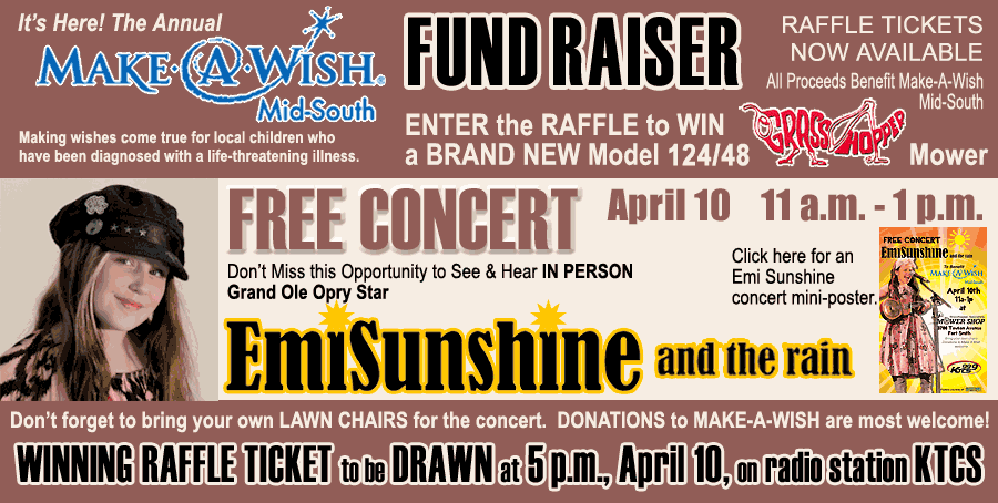 March 10 Fund Raiser for Make a Wish Foundation-- Emi Sunshine and the Rain FREE CONCERT