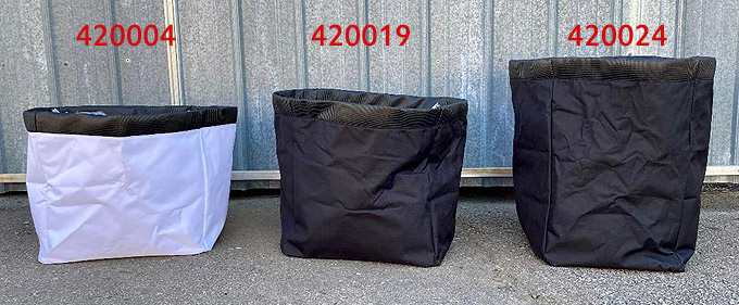 Leaf and Debris Fabric Bags for Grasshopper Vacuum Units