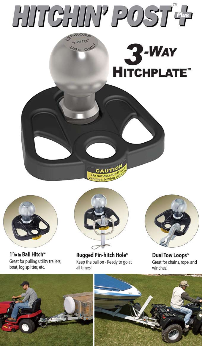 Hitchin Post Plus 3 Way Trailer Hitch Plate