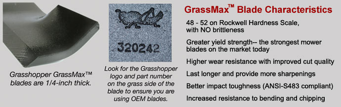 GrassMax blades by Grasshopper: longest-lasting, most durable