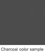 Charcoal color sample