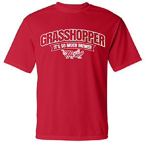 Red Grasshopper T-Shirt, with Arched Logo Design