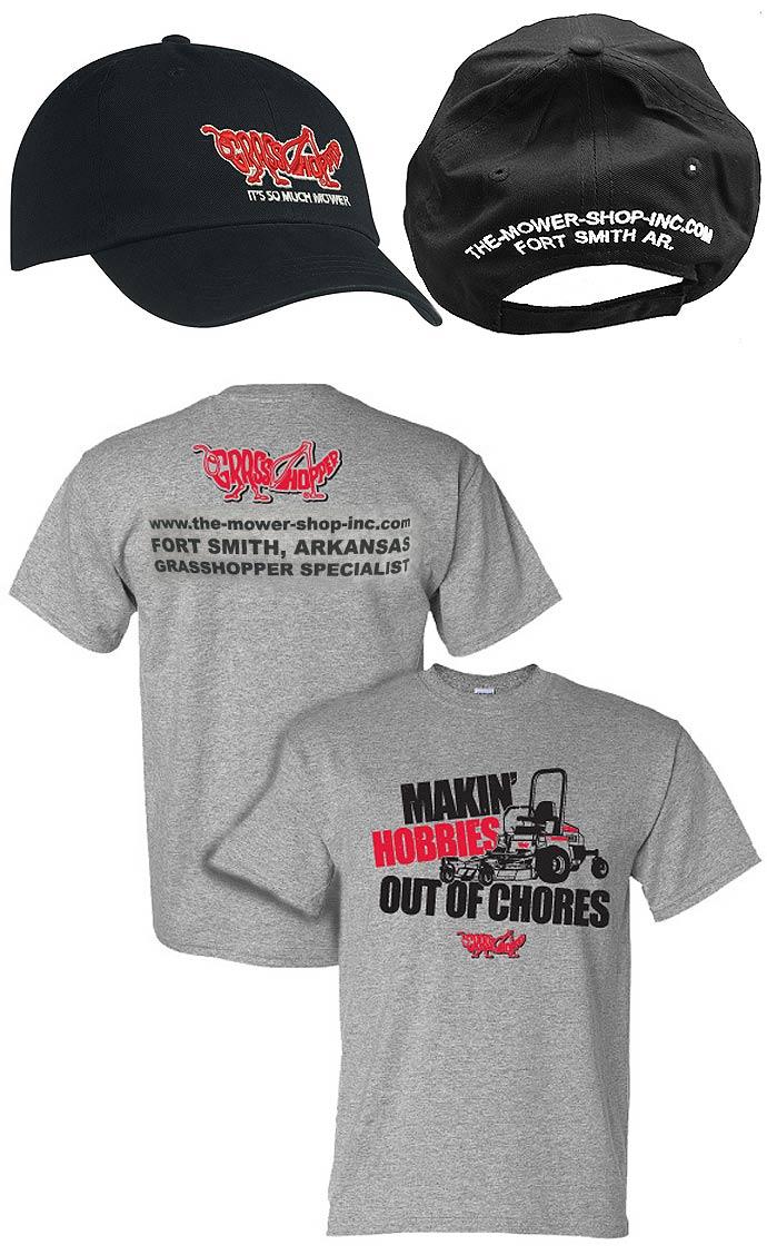 The mower shop free grasshopper mower cap or t shirt offer for T shirt offer online shopping