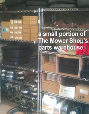 a small portion of The Mower Shop's Parts Warehouse