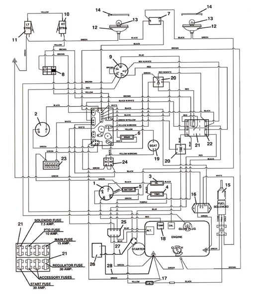 721D_2003_Wiring kubota starter wiring diagram wiring diagram and schematic design kubota d722 wiring diagram at edmiracle.co