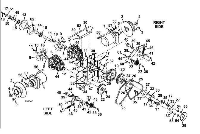 722D2 Grasshopper Mower - Drive Assembly Diagram & Parts List