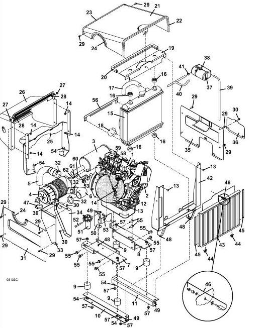 Kubota B7100 Muffler : D grasshopper mower engine assembly diagram parts list