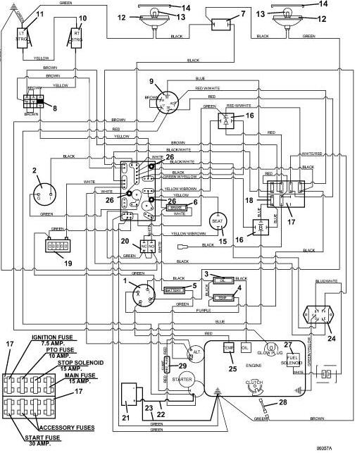 722D2 Grhopper Mower - Wiring Diagram & Parts List