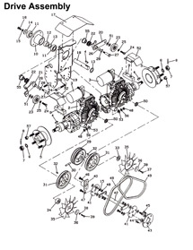 R25704604 Mower belt diagrams 3 furthermore Replacing Belt 1986 Murray Lawn Mower 375706 besides How to put belt on the mower deck in addition T12132456 Drive belt diagram 20hp v twin sabre together with 725 1990. on kubota wiring diagram