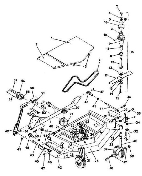 6144 deck model 1987 year mower assembly parts diagram grasshopper rh the mower shop inc com Kubota T1670 Manual Kubota T1670 Bagger