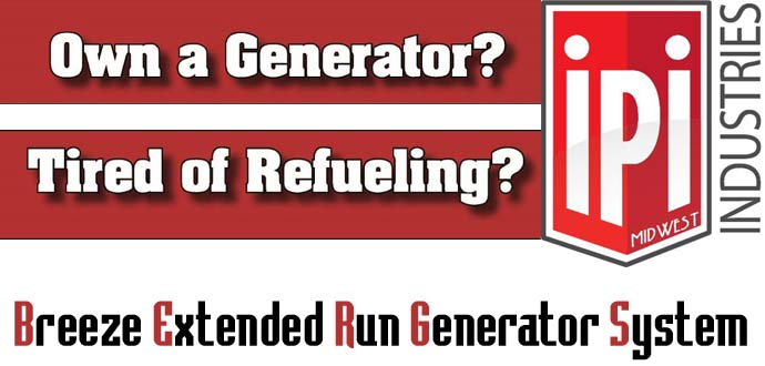 IPI Industries generator extended run fuel systems